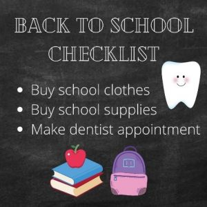 It's Time for Back-to-School Dental Checkups!